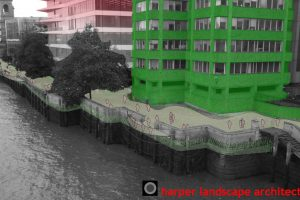 Thames North Bank Sketch Photomontage